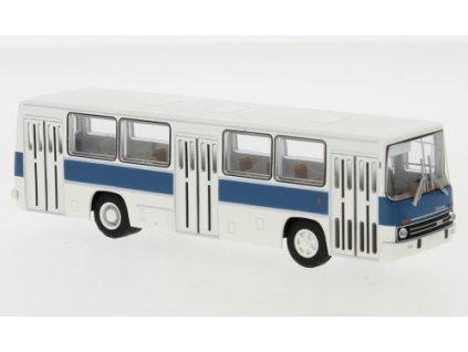H0 - autobus Ikarus 260 city bus, bílo-modrý, 1972 / Brekina 59802