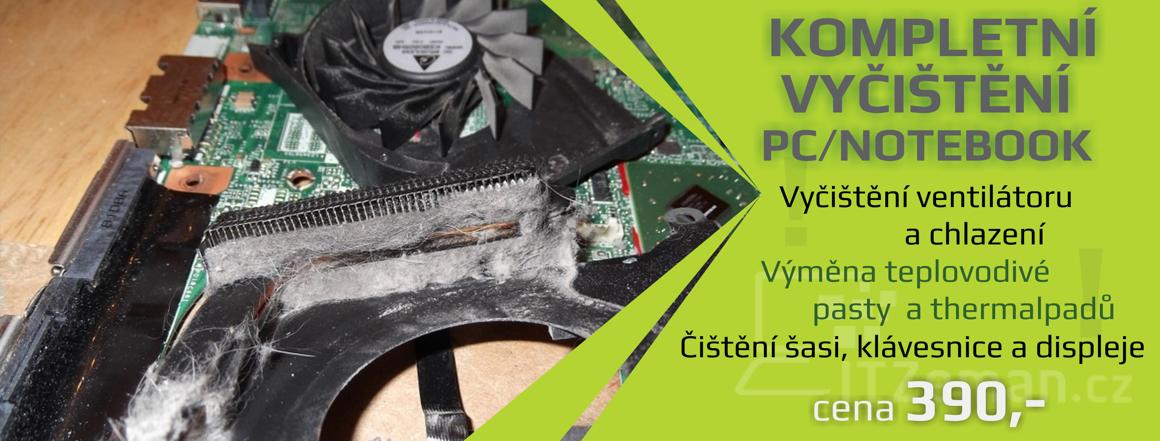 Kompletní vyčištění PC/notebook
