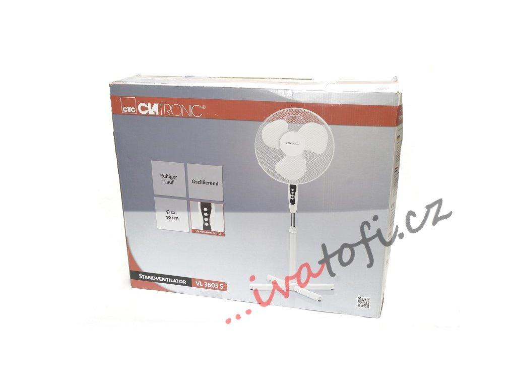 Stojanový ventilátor Clatronic VL 3603 bílý