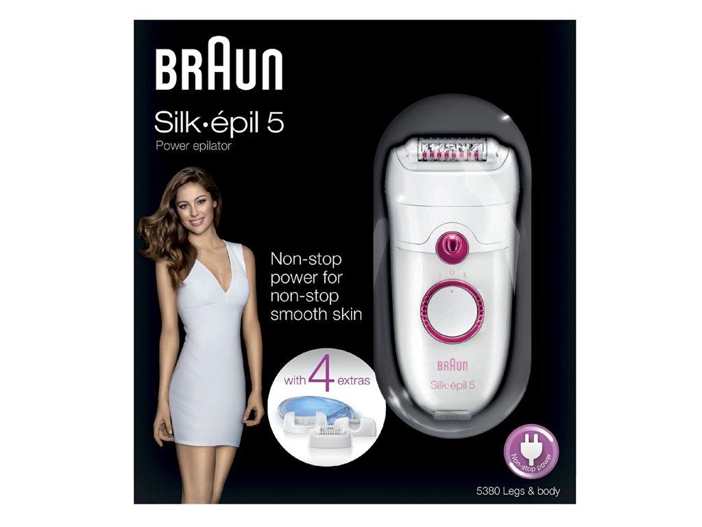 Epilátor Braun Silk-épil 5 5380 4 nástavce