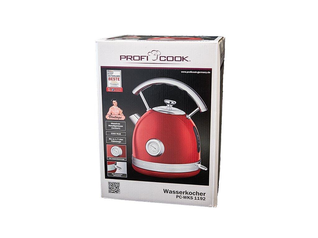 Konvice ProfiCook Vintage PC-WKS 1192 červená