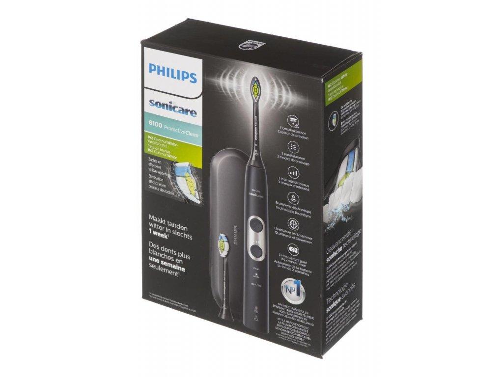 Elektrický zubní kartáček Philips Sonicare ProtectiveClean 6100 Black HX6870/47