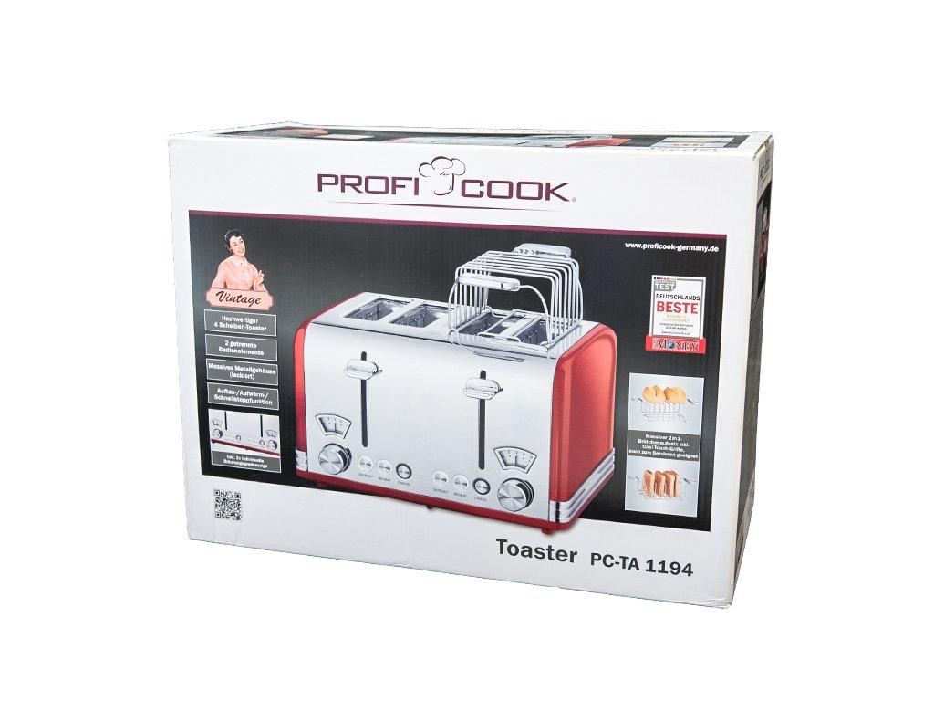 Toustovač ProfiCook Vintage PC-TA 1194 červený