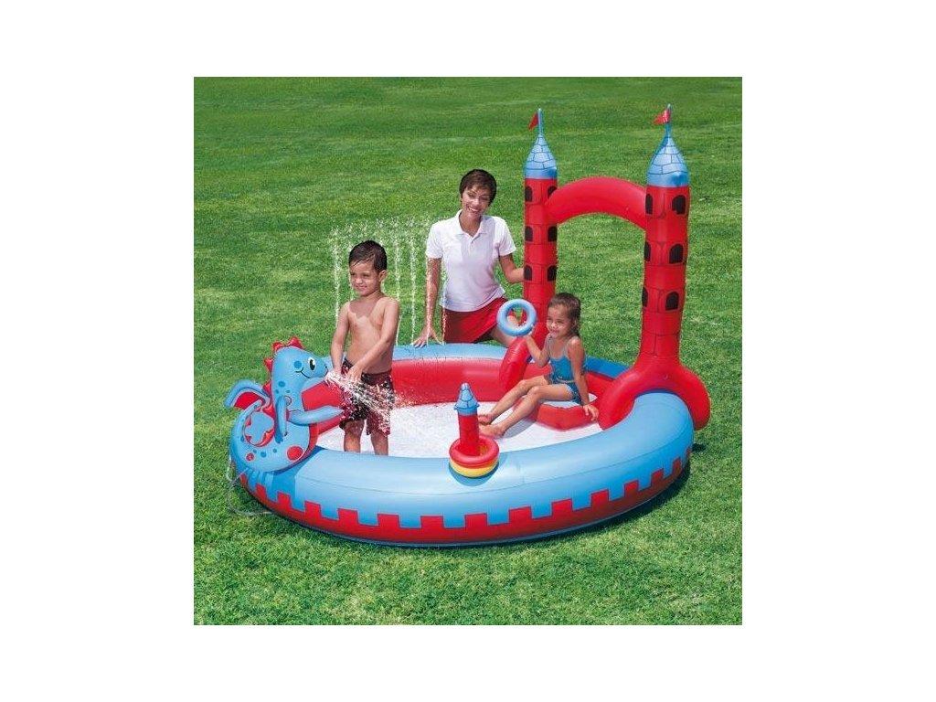 Nafukovací bazén hrad Bestway 53037 221x193x150cm