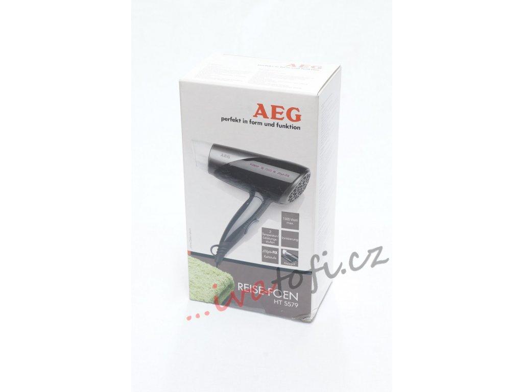Cestovní fén AEG HT 5579 černý