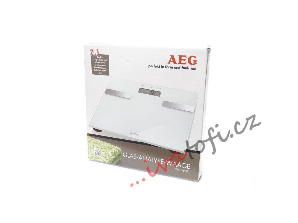 Elektronická skleněná váha AEG PW 5644 bílá