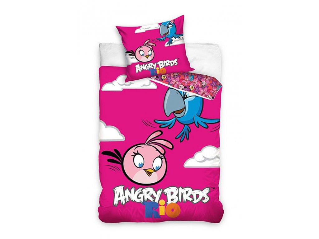 ANGRY BIRDS RIO dětské povlečení  160x200 70x80