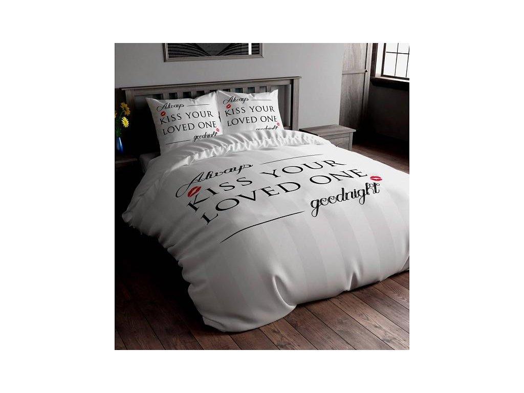 Sleep Time KISS YOUR LOVE povlečení na postel 140x200 60x70
