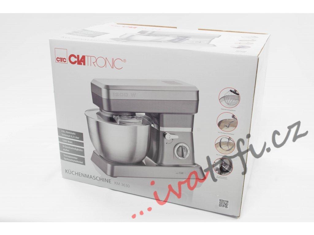 Kuchyňský robot hnětač Clatronic KM 3630 1200 W šedý