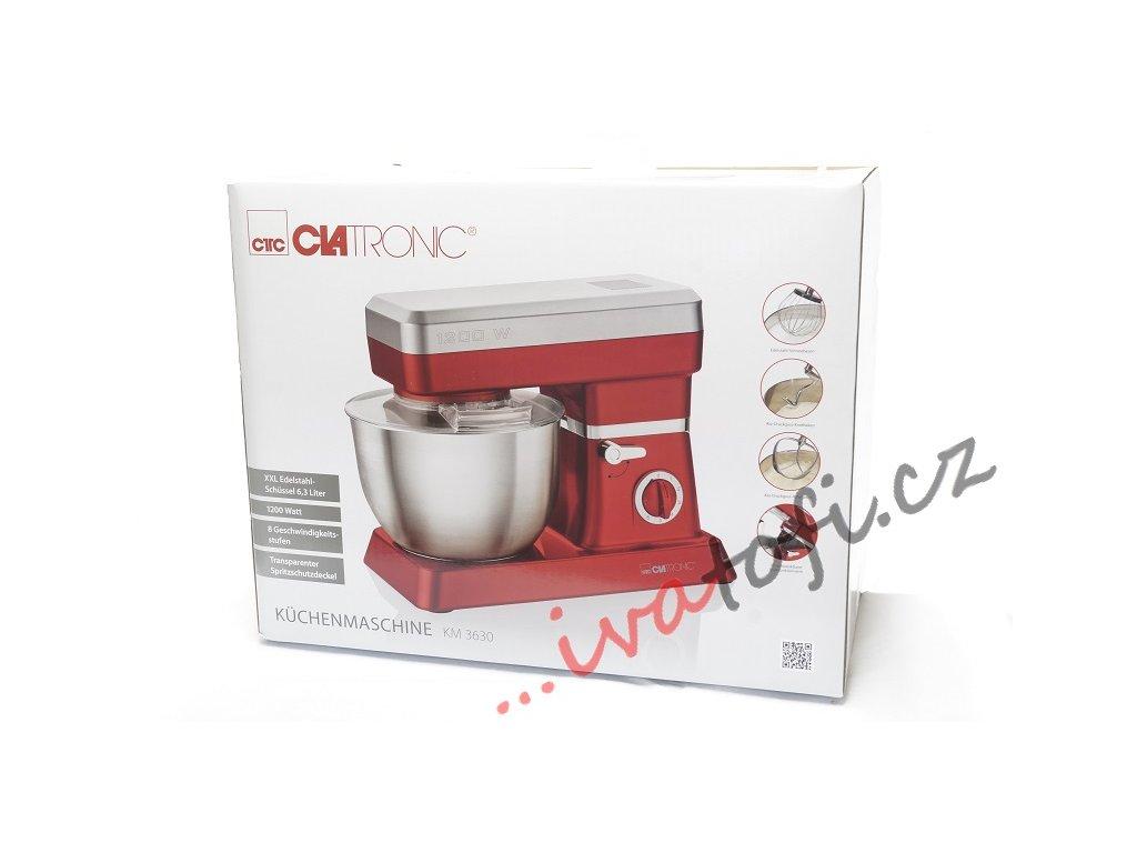 Kuchyňský robot hnětač Clatronic KM 3630 1200 W červený