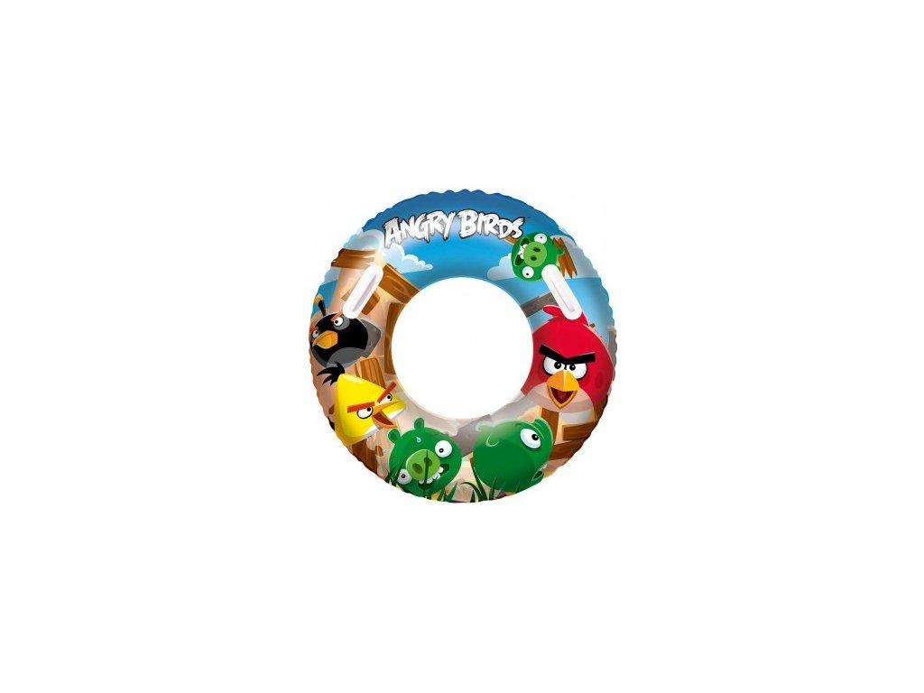 Nafukovací kruh Angry Birds s držadly průměr 91cm Bestway 96103
