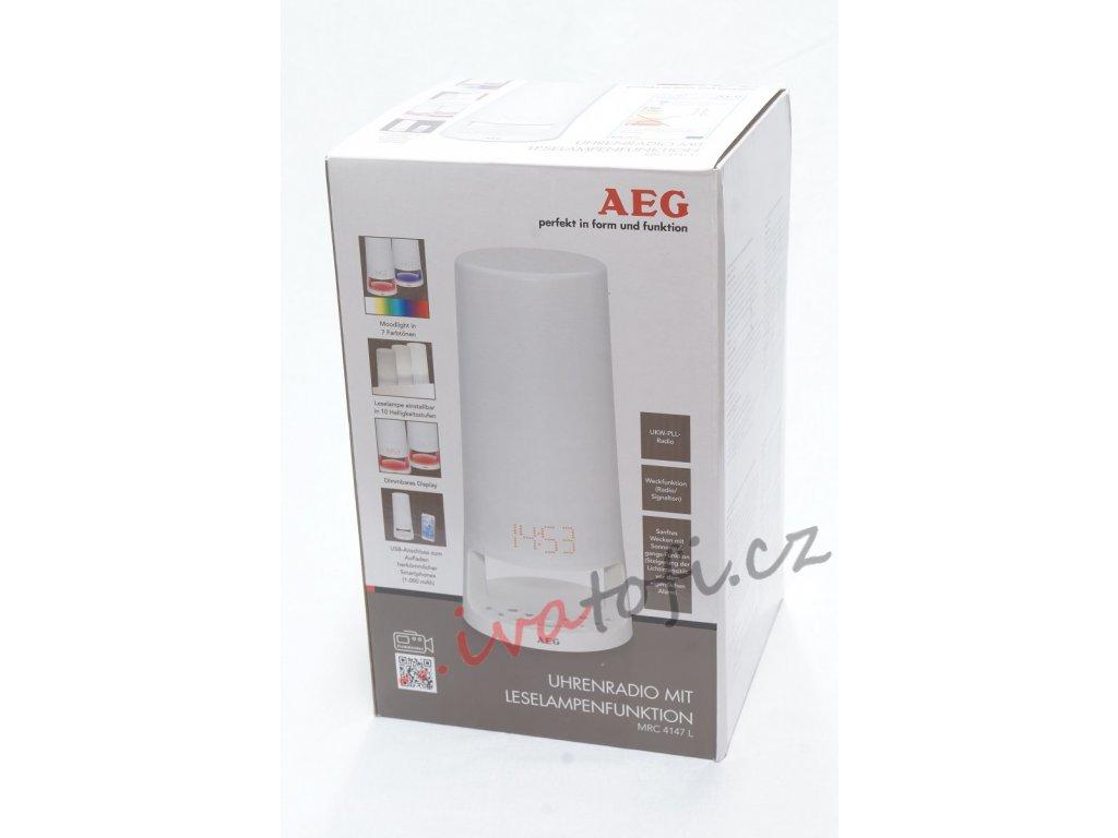 AEG Rádio s hodinami a světlem MRC 4147 L bílá (400634)
