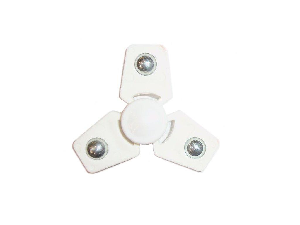 Fidget spinner - antistresová hračka hranatý bílý