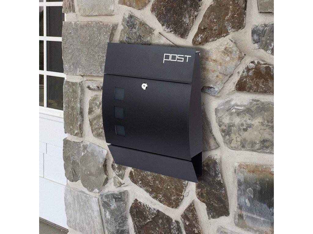 Poštovní schránka SN 3651 černá