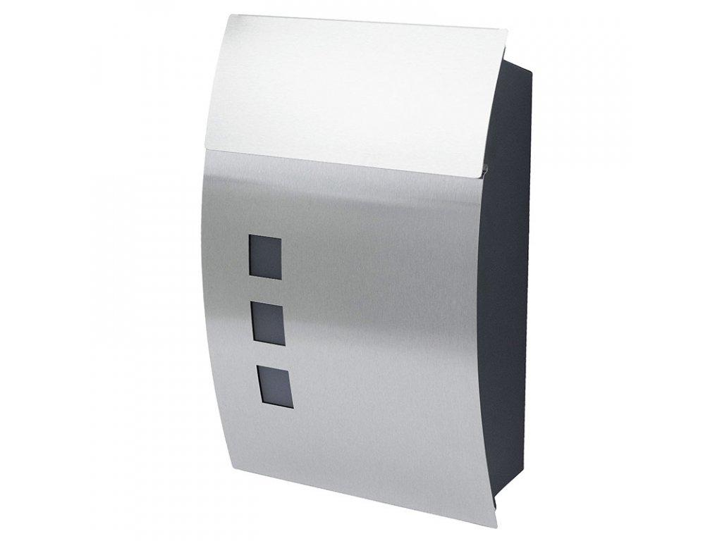 Poštovní schránka nerez/černá SN 3648