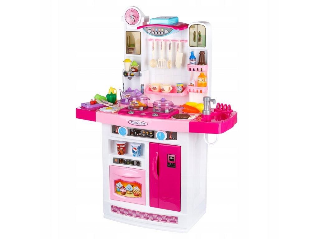 Kinderplay dětská kuchyňka s dřezem růžová