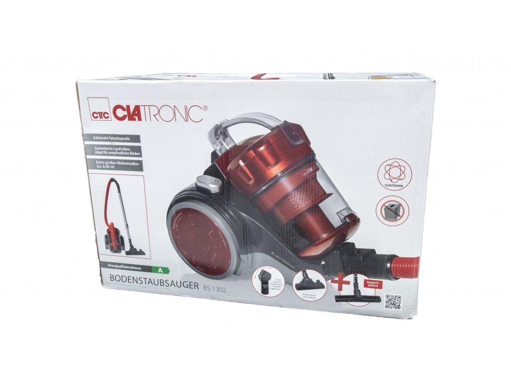 Bezsáčkový vysavač Clatronic BS 1302 červený