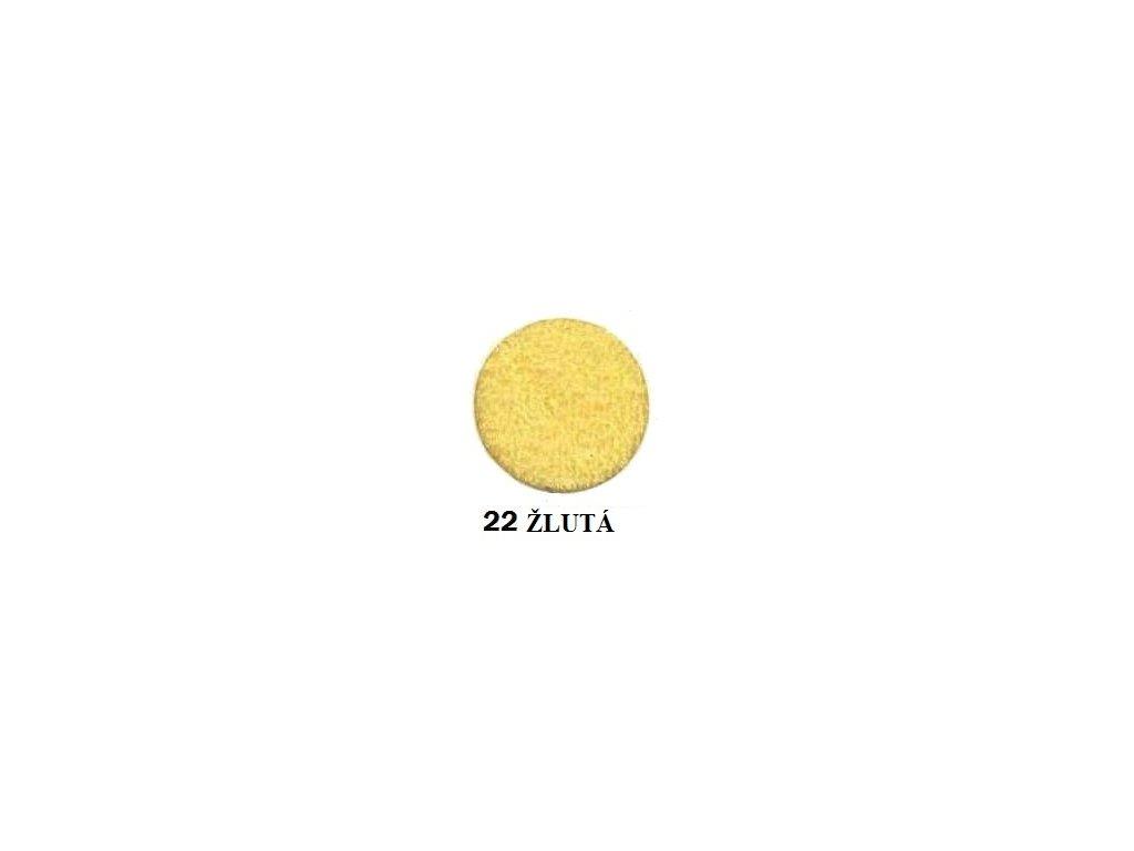Froté prostěradlo 200/220 barva žlutá