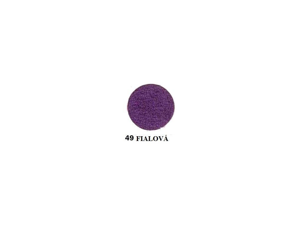 Froté prostěradlo 140/200 cm barva fialová