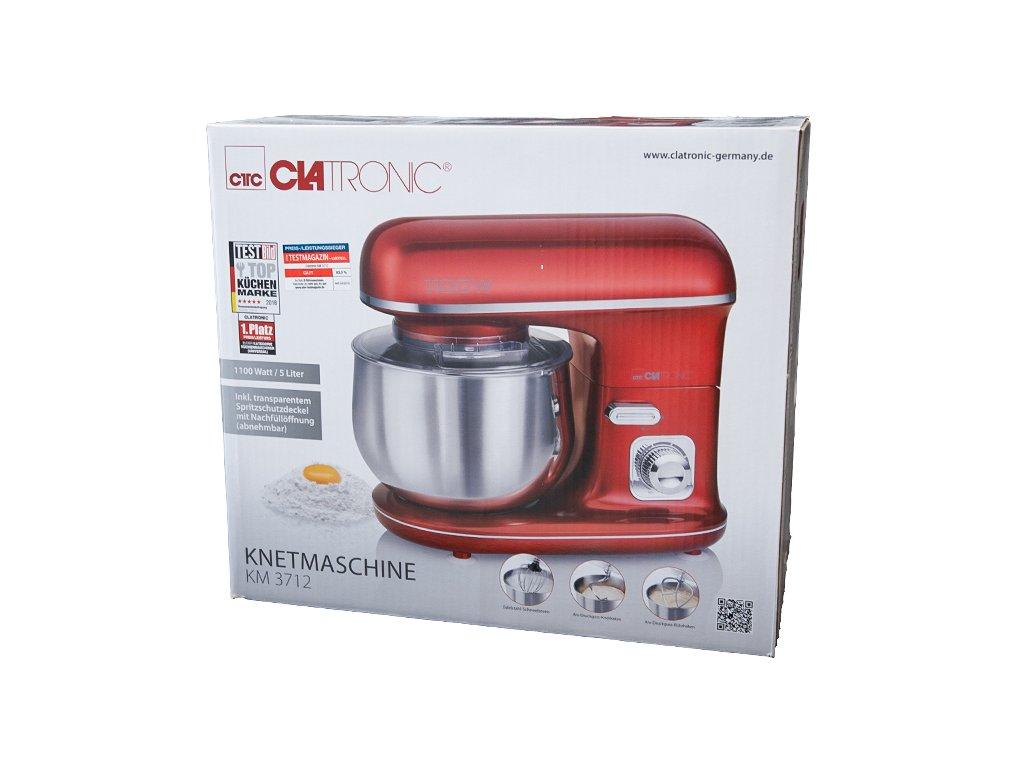 Kuchyňský robot hnětač Clatronic KM 3712 1100 W červený