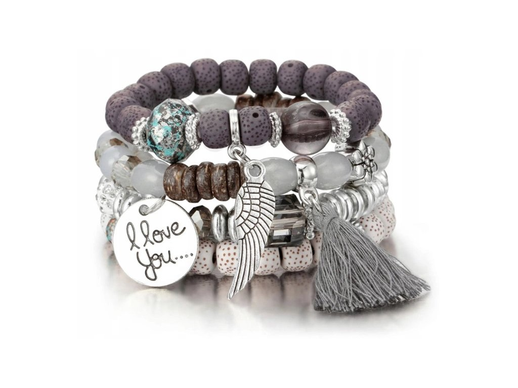 bracelet šedá