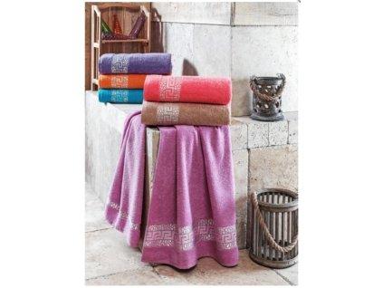 Ručník Julie 50x90 cm bavlna starorůžový