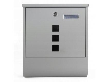 Poštovní schránka šedá SN 3674