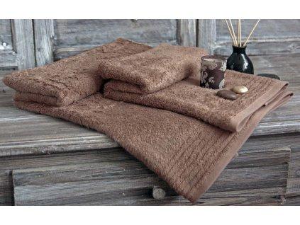 Bambusový ručník Sweet Home  barva karamel