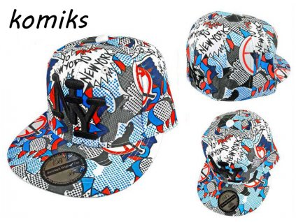 Skate kšiltovka čepka komiks NY BARCLEYS AMERICAN CAP