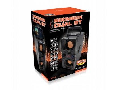 Media-Tech BOOMBOX duální bezdrátový BT MT3167 MP3
