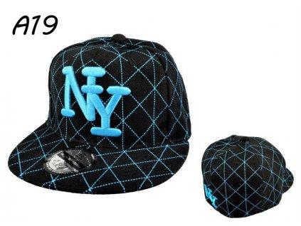 Skate kšiltovka čepka černo - modré káro NY BARCLEYS AMERICAN CAP