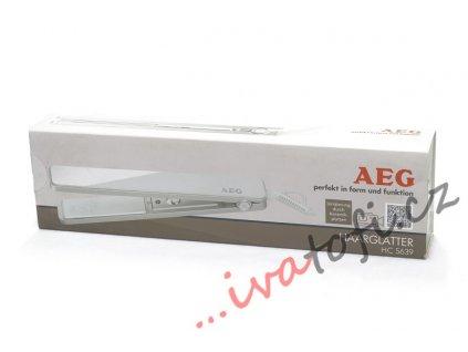 Žehlička na vlasy AEG HC 5639 bílá