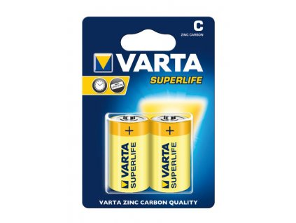Baterie Varta Superlife R14 typ C 2 kusy