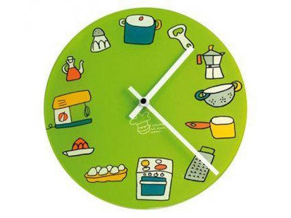Kuchyňské hodiny San Ignacio zelené