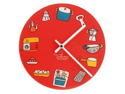 Kuchyňské hodiny San Ignacio červené