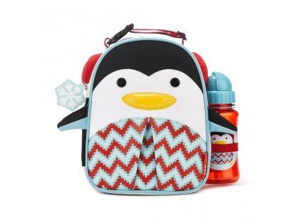 Dětská taška do školky s láhví 350 ml Pinguin SKIP HOP ZOO