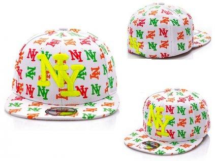 Skate kšiltovka čepka barevná neon NY BARCLEYS AMERICAN CAP
