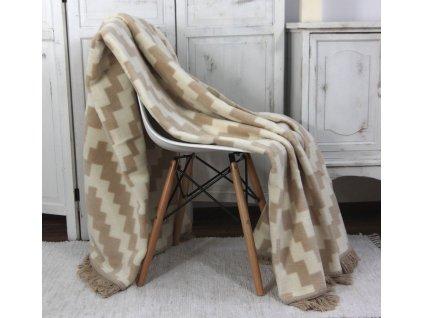 Přikrývka deka MOONLIGHT sweet Home Andropol 150x200 béžová kostka