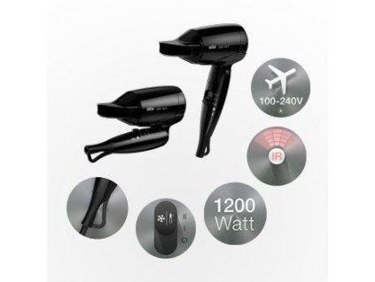 Cestovní fén vysoušeč vlasů BRAUN HD-130