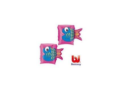 Nafukovací dětské rukávky růžové Bestway 32062 23x15cm
