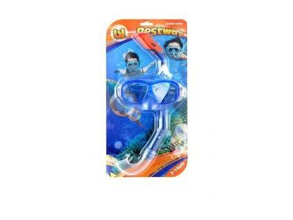 Dětské potápěčské brýle+šnorchl Bestway 24016 modré