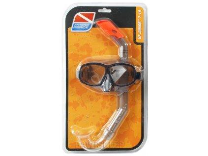 Dětské potápěčské brýle+šnorchl Bestway 24016 černé