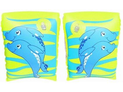 Nafukovací dětské rukávky modré Bestway 32042  23x15cm