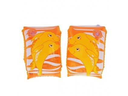 Nafukovací dětské rukávky pomerančové Bestway 32042  23x15cm