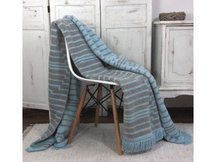 Přikrývka deka MOONLIGHT sweet Home Andropol 150x200 modro-šedá
