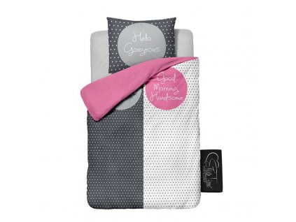 Sleep Time Morning love pink povlečení na postel 140x200 60x70
