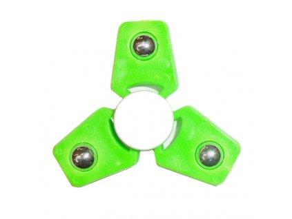 Fidget spinner - antistresová hračka hranatý zelený