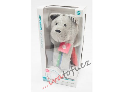Šumící medvídek usínáček Whisbear kombinace růžová