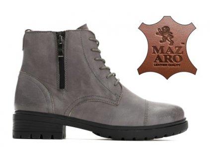Dámské kotníkové boty zateplené trapery Mazaro NL98-5 šedé