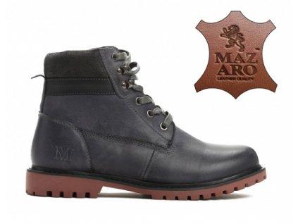 Dámské kotníkové boty zateplené trapery Mazaro SD86-6 tmavě šedé